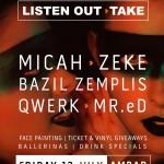 A 'Listen Out'-take